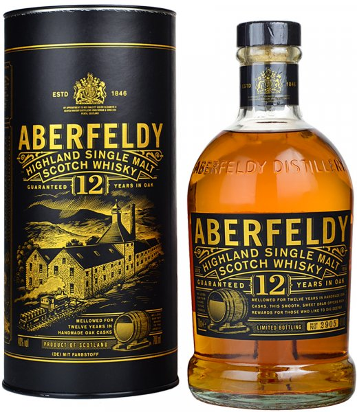Aberfeldy 12 Year Old Highland Single Malt Whisky 70cl