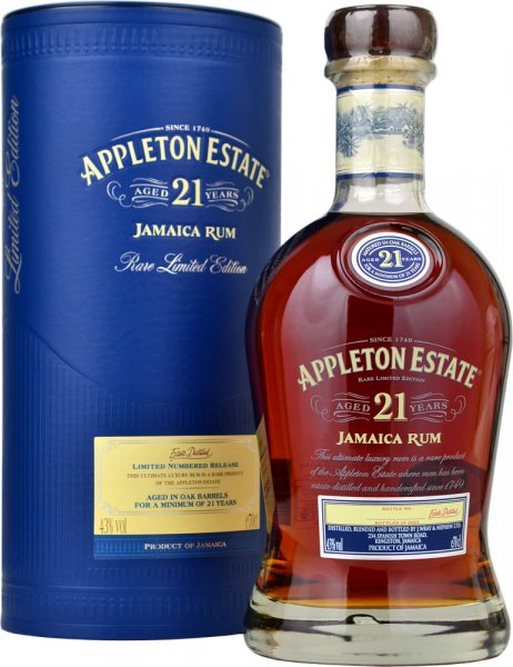 Appleton Estate 21 Year Old Rum 70cl