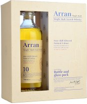 Arran 10 Year Old Single Malt Whisky 70cl with Two Glasses Gift Pack