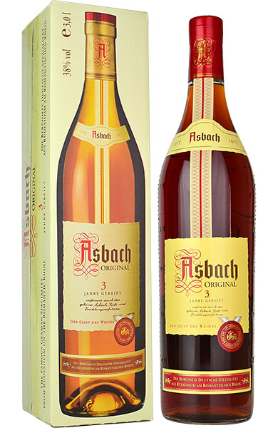 Asbach Original 3 Year Old German Brandy 3 litre