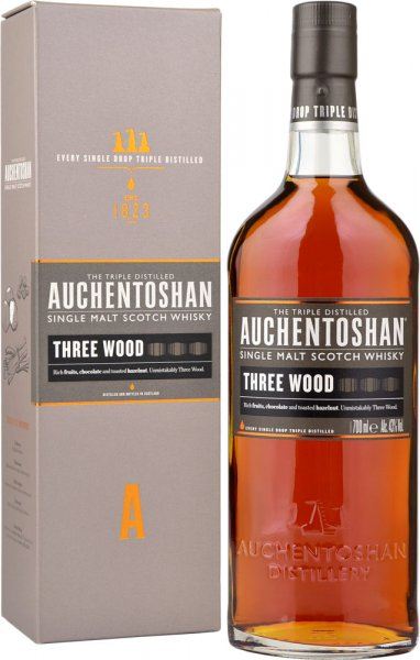 Auchentoshan Three Wood Malt Whisky 70cl