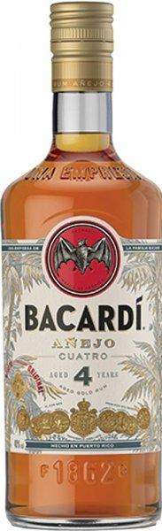 Bacardi Anejo Cuatro 4 Year Old Rum 70cl