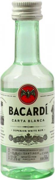 Bacardi White Rum Miniature 5cl