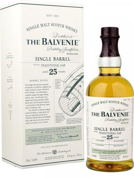 Balvenie Single Barrel 25 Year Old Single Malt Whisky 70cl