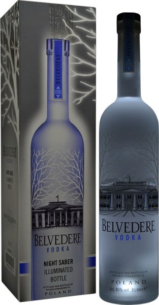 Belvedere Pure Vodka 3 litre (Illumination Bottle)