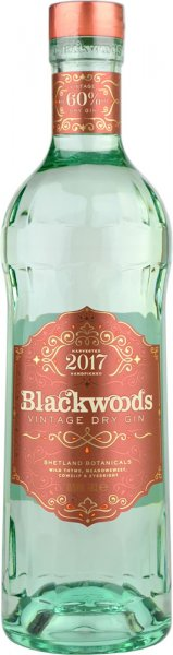 Blackwoods Vintage Dry Gin 60% Limited Edition 2017 70cl