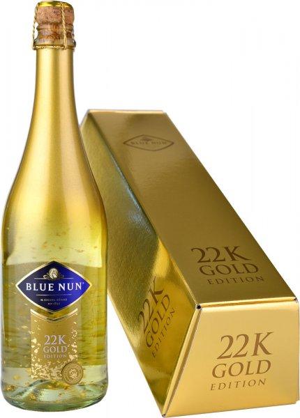 Blue Nun 22K Gold Edition Sparkling 75cl in Bullion Box