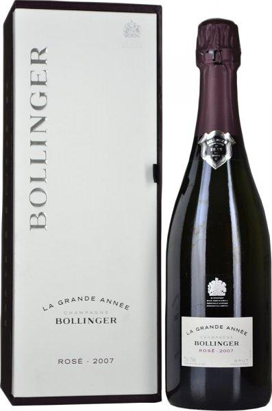 Bollinger La Grande Annee Rose 2007 75cl in Branded Box