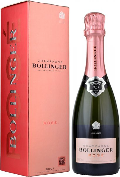 Bollinger Rose NV Champagne 37.5cl in Branded Box
