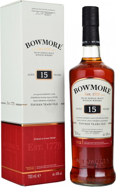 Bowmore 15 Year Old Islay Darkest 70cl
