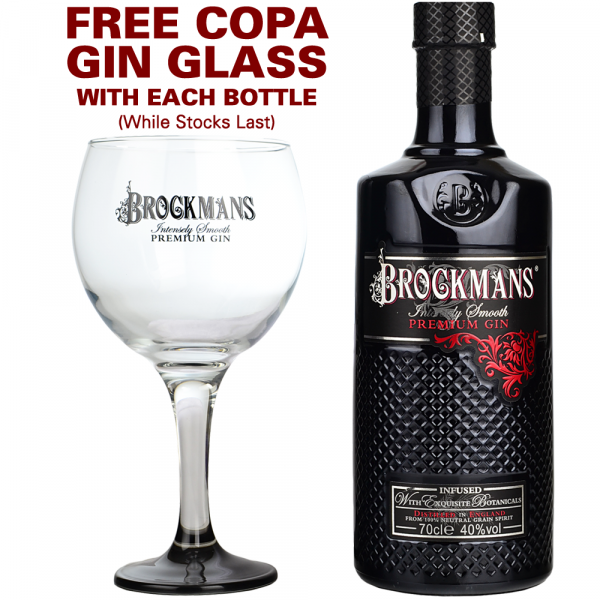 Brockmans Gin 70cl + FREE Copa Glass