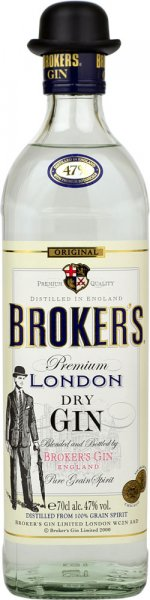 Brokers Export Gin 47% 70cl