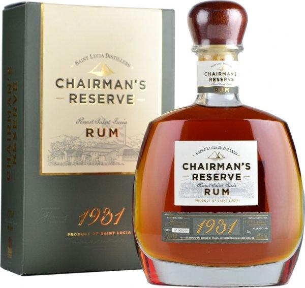Chairmans Reserve 1931 Rum - St Lucia Distillers 70cl
