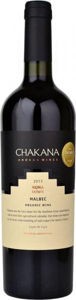 Chakana Estate Organic Malbec 2015 75cl