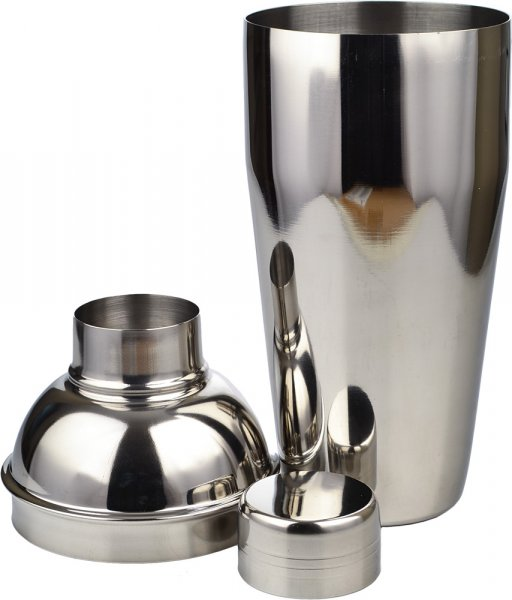Cocktail Shaker - Deluxe / 3 Piece Stainless Steel 750ml