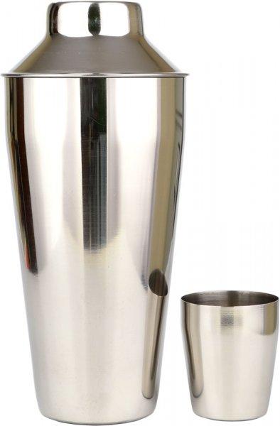 Cocktail Shaker - Manhattan Design / 3 Piece Stainless Steel 750ml