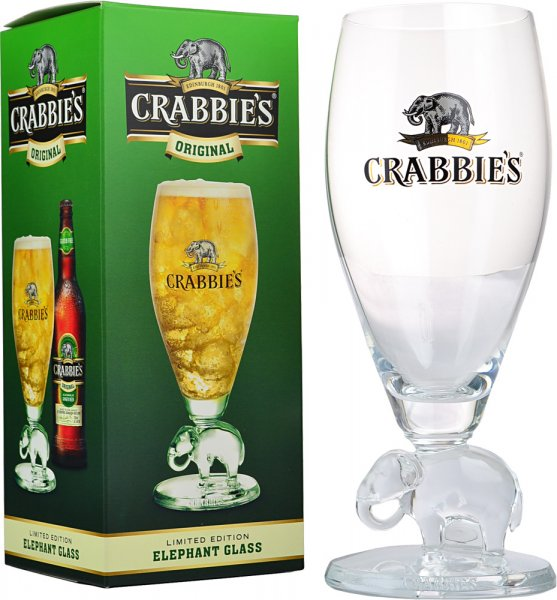 Crabbies Ginger Beer Glass with Elephant Stem 330ml