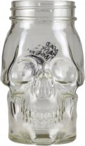 Dead Mans Fingers Glass Skull Jar