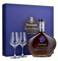Delamain Extra Cognac Decanter 70cl with 2 Glasses Gift Pack