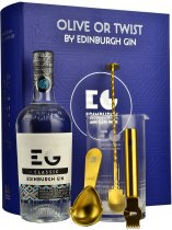 Edinburgh Gin Olive or Twist Classic Cocktail Gift Set 70cl