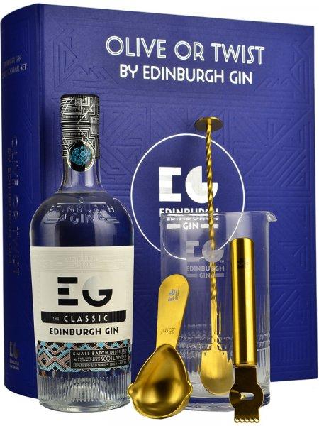 Edinburgh Gin Olive or Twist Classic Cocktail Gift Set 70cl