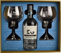 Edinburgh Gin with Two Glasses Gift Set 70cl