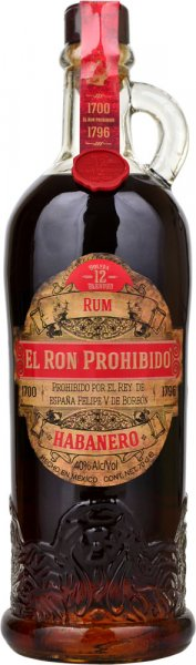 El Ron Prohibido Reserva Solera 12 Rum 70cl