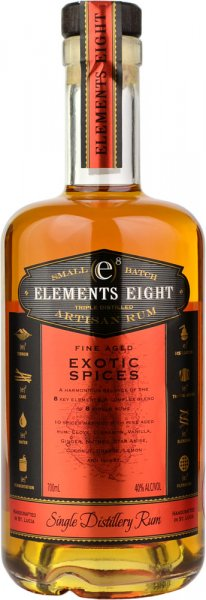 Elements Eight Exotic Spices Rum 70cl