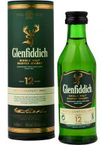 Glenfiddich 12 Year Old Single Malt Whisky Miniature 5cl