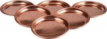 Glenfiddich Copper Colour Metal Coasters (set of 6)