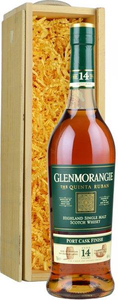 Glenmorangie Quinta Ruban 14 Year Old (Port Cask) 70cl in Wood Box (SL)