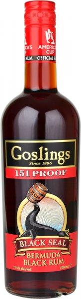 Goslings Black Seal 151 Proof Rum 70cl