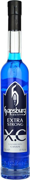 Hapsburg XC Blue Cassis Absinthe 89.9% Extra Strong 50cl