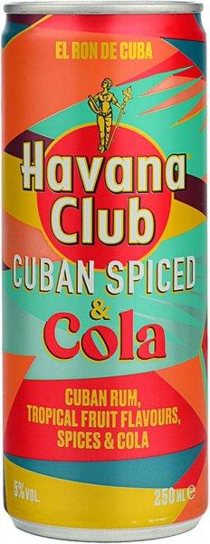 Havana Club Cuban Spiced Rum & Cola Can 250ml