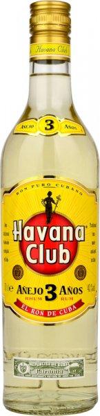 Havana Club Anejo 3 Year Old Rum 70cl