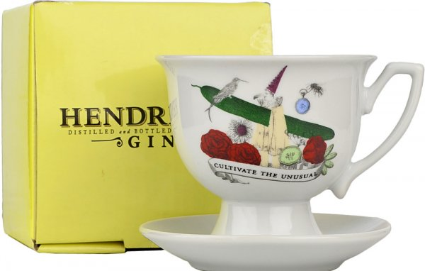 Hendricks Gin Tea Cup Set Limited Edition Boxed