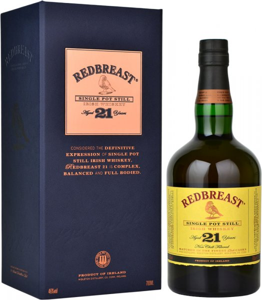 Jameson Redbreast 21 Year Old Irish Whiskey 70cl