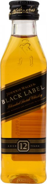 Johnnie Walker Black Label 12 Year Old Whisky Miniature 5cl