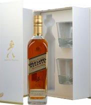 Johnnie Walker Gold Label Reserve 70cl + 2 Glasses Gift Pack
