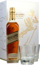 Johnnie Walker Gold Label Reserve 70cl + 2 Glasses Gift Pack