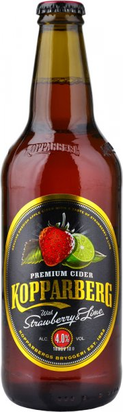 Kopparberg Premium Cider with Strawberry & Lime 500ml Bottle