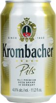 Krombacher Pils Lager 330ml CAN