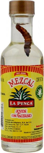 La Penca Mezcal with Worm Miniature 5cl