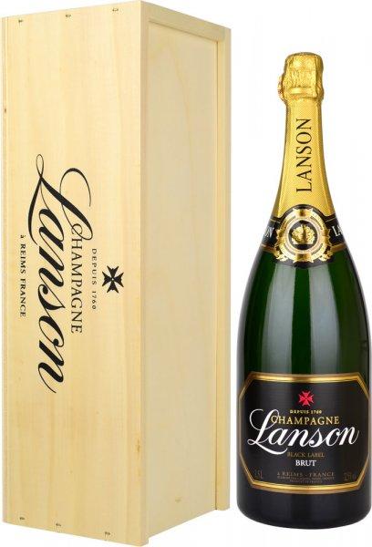 Lanson Black Label Brut NV Champagne Magnum (1.5 litre) in Wood Box