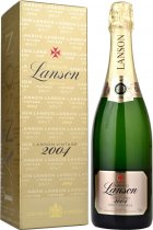 Lanson Gold Label Brut Vintage 2004/2005 75cl in Branded Box