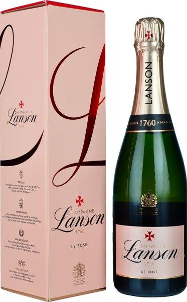 Lanson Rose Brut NV Champagne 75cl in Branded Box
