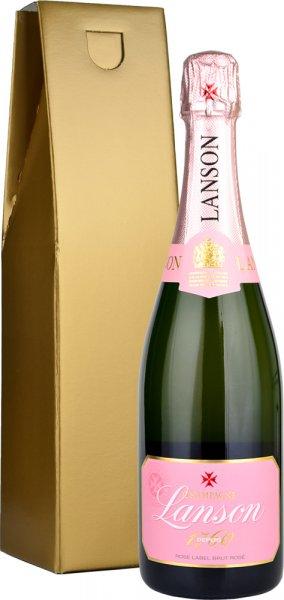 Lanson Rose Brut NV Champagne 75cl in Gold Gift Box