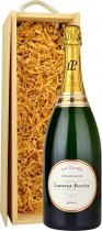 Laurent Perrier La Cuvee Brut NV Champagne Magnum (1.5 ltr) in Wood Box