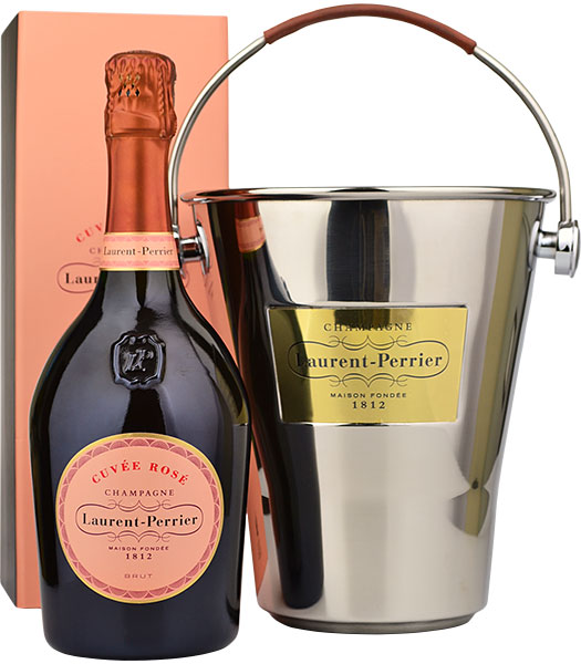 Laurent Perrier Rose NV Champagne 75cl & Ice Bucket Gift Set