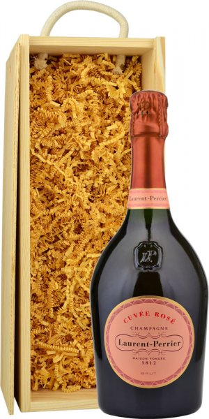 Laurent Perrier Rose NV Champagne 75cl in Wood Box